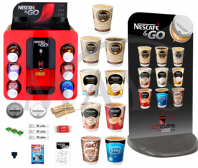 Nescafe &Go Dispenser Machine & 1400+ Piece Starter Pack & Sign (Free UK Mainland Express Delivery)